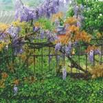 Lux 1700 Panorama Blumen am Zaun