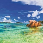 Beach Source d'Argent at Seychelles