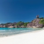 Panoramic view on a beach , Similan islands, Thailand